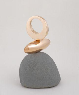 Philip Hearsey Beach Song 15 bronze stone sculpture for sale