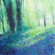 John Connolly Fairylight Blues woodland painting for sale