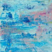 Allan Storer Displacement (I) abstract pink blue painting for sale
