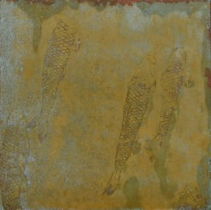 Paul Fearn Catching Current copper art etching for sale
