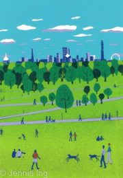 Jennie Ing Primrose Hill london skyline art print