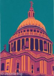 Jennie Ing St Paul's Cathedral Magenta london pop art for sale