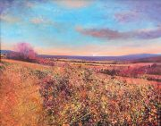 John Connolly Autumn Hedge sunset landscape art for sale