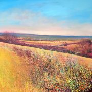 John Connolly Autumn Hedges landscape painting for sale