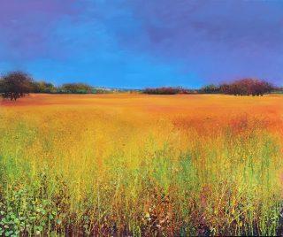 John Connolly Autumn Fields landscape painting for sale