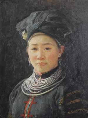 Shen Ming Cun Beauty, Yi Tribe modern chinese art for sale