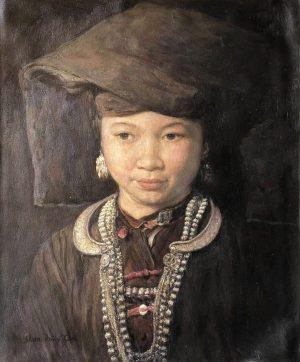 Shen Ming Cun Thoughtfulness, Zhuang Tribe painting