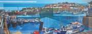 Les Matthews Brixham modern devon oil painting for sale