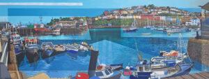 Les Matthews Brixham modern devon oil painting for sale