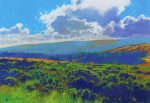 Richard Thorn Dartmoor Sky landscape painting for sale