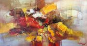 Madjid Colourful Life large abstract original painting for sale