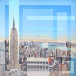 Les Matthews The Empire State Building From The Rockerfeller art for sale