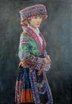Shen Ming Cun Miao Finery traditional portrait painting for sale