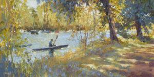 John Hammond A Gentle Splash tranquil river painting for sale