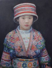 Shen Ming Cun Beauty In Pearls modern chinese art for sale