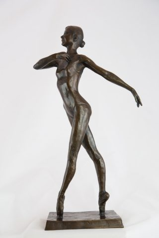 Malcolm West En Pointe - Bronze Resin dancer artwork for sale