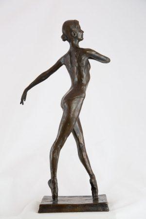 West En Pointe - Bronze ballerina sculpture for sale