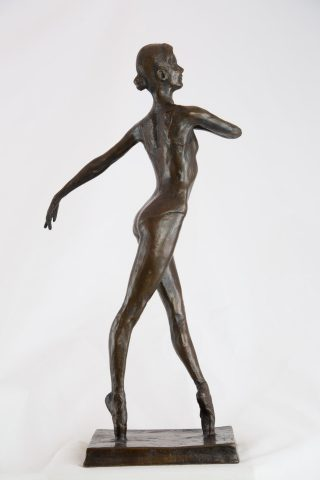 West En Pointe - Bronze ballerina sculpture for sale