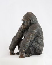 Dorothy Cameron Gorilla wild animal bronze sculpture for sale