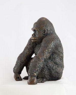 Dorothy Cameron Gorilla wild animal bronze sculpture for sale