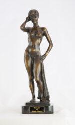 Ronald Cameron Hotline female figurative sculpture for sale