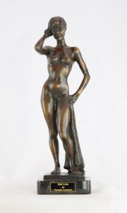 Ronald Cameron Hotline female figurative sculpture for sale