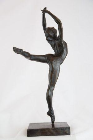 Malcolm West Little Dancer - Bronze sculpture for sale