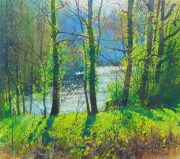 Richard Thorn River Vignette watercolour painting for sale