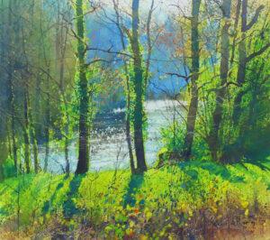 Richard Thorn River Vignette watercolour painting for sale