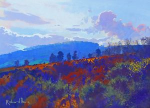 Richard Thorn Silver Lining modern landscape painting for sale