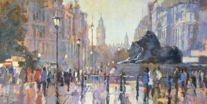 John Hammond The Pride of London rainy painting for sale