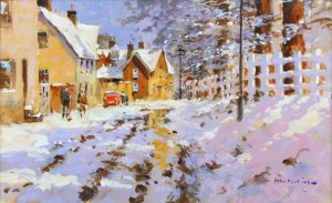 John Haskins The Thaw Sets In traditional snow art for sale