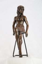 Ronald Cameron Victoria seated bronze sculpture for sale
