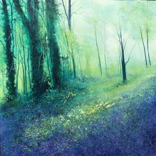 John Connolly Fairies In The Blue forest bluebells art for sale