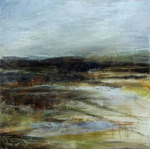 Carol Grant After The Rain framed minimalist abstract landscape for sale