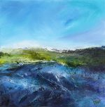 Carol Grant Coast blue abstract seascape painting for sale