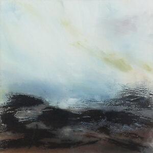 Carol Grant Evening Skies minimal grey landscape art for sale