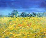 Sharon Withers Fields of Wheat modern landscape art for sale