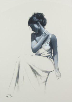 Richard Symonds Funda Sitting II watercolour portrait for sale