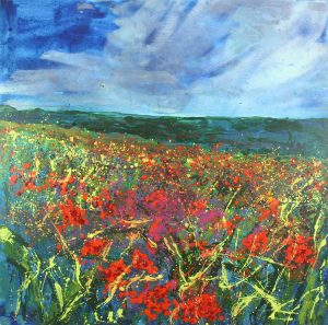 Sharon Withers Memories of Summer meadow painting for sale