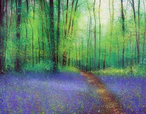 John Connolly Path To My Dreams bluebells painting for sale