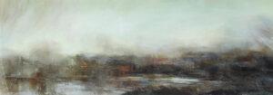 Carol Grant Storm Brewing minimal subtle sky painting for sale