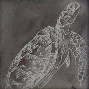 Paul Fearn Virgo turtle metal sheet artwork for sale