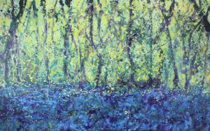 Sharon Withers Bluebell Woods abstract painting for sale