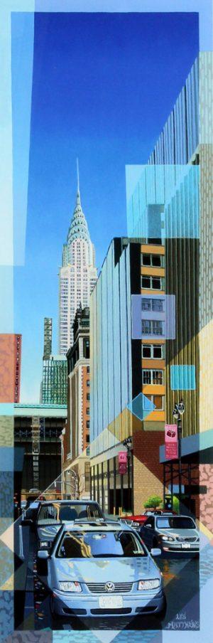 Les Matthews Chrysler Building new york city artwork for sale