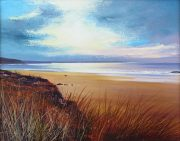 John Connolly Love The Light Gwithian cornwall beach painting for sale