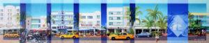 Les Matthews Ocean Drive Miami 7th to 8th Street art print for sale
