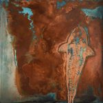 Paul Fearn Pisces copper sheet fish painting for sale