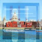 Les Matthews St Paul's London pop art painting for sale