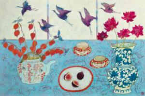Emma Forrester Soaring Spirits modern still life art for sale